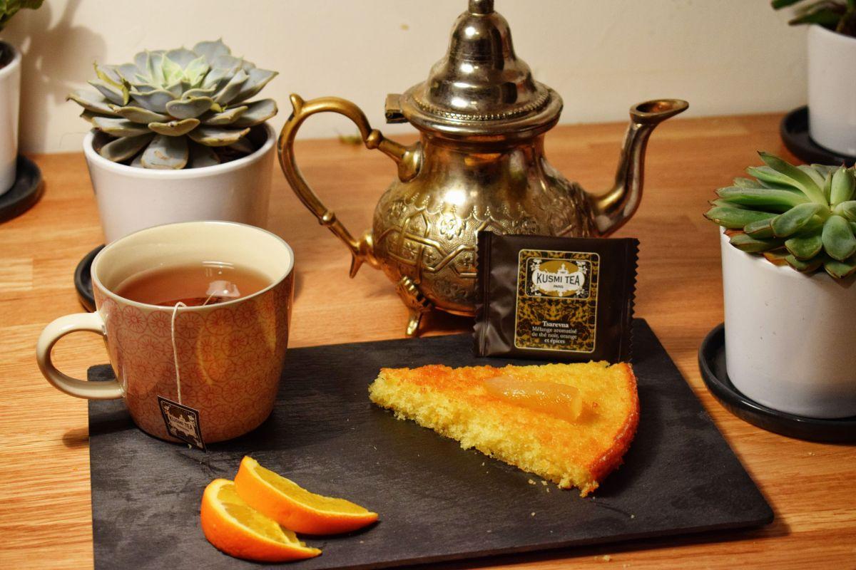 Le gâteau à l'orange de Jean François Piège et son thé de Noël